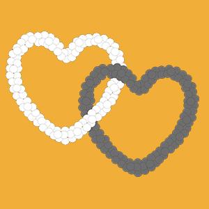 Interlocking hearts Yellow